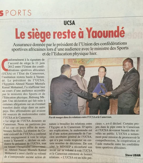 )AASC Receiving the HQ building in Yaoundé, Cameron