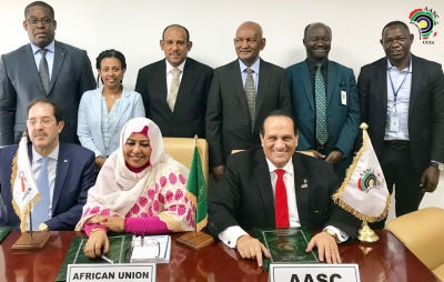 UCSA , ANOCA and the African Union (AU) have signed a historic contract for the African Games