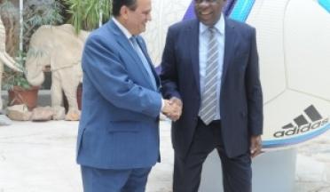 Le président de l'UCSA a rencontré le Président du CAF