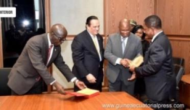 Le Président de l'UCSA Général Ahmed Nasser au Guinée Équatoriale