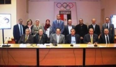 La confédération sportive africaine d'Egypte rencontre le président pour la coopération