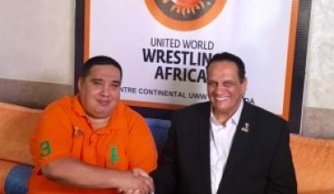 Président de l'UCSA Général Ahmed Nasser visite au Centre Marocain Africain International de lutte au Maroc.