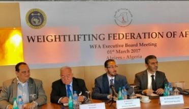 Le Président de l'UCSA assiste à l'Assemblée General de l'Haltérophilie en Algerie