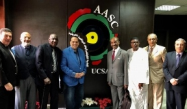 the President and members of the African Union for Sports Medicine Visit the headquarters of the UCSA in Cairo