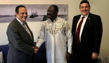 in Ismailia, Minister of Sports of Cameroon, Professor Narcis, Met the President of the UCSA, Major General Ahmed Nasser