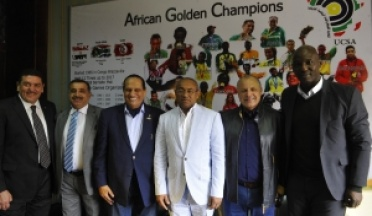 AHMED AHMED President of CAF visited General Nasser In UCSA HQ in EGYPT