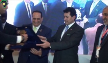 Honoring UCSA the Minister of Youth and Sports Dr. Ashraf Sobhi